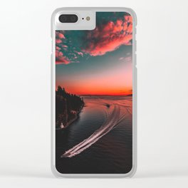 Canadian sunset #buyart #society6 Clear iPhone Case