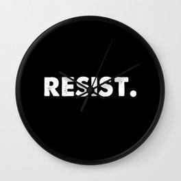 Resist. Wall Clock
