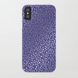 Periwinkle Berry Branches iPhone Case
