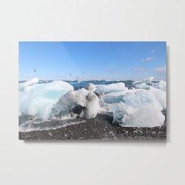 Glistening Ice Metal Print