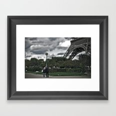 Through any storm Framed Art Print