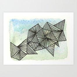 Geometrical Watercolour 1 Art Print