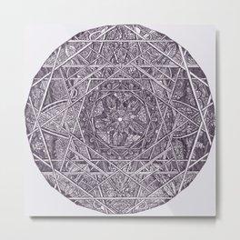 Milkweed Mandala | Purple Metal Print