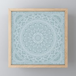 Mandala - Soft turquoise Framed Mini Art Print