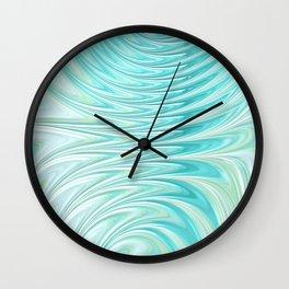 Teal Dreams Collection (6) - Fractal Art  Wall Clock