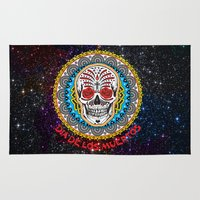 day of the dead Area & Throw Rugs featuring Day of the Dead by Gary Grayson