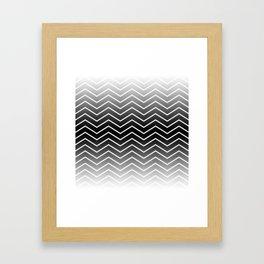 Fat Thin Chevrons Dove White Framed Art Print