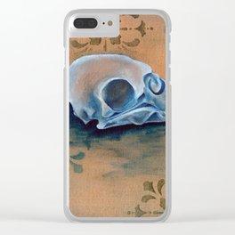 Oil Paint Study - Parakeet Pattern Clear iPhone Case