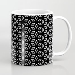 Geometric Petals Dark Coffee Mug