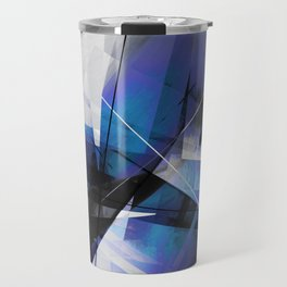 Divided by Glass - Geometic Abstract Art Travel Mug