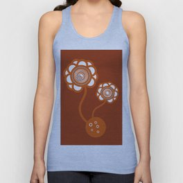 Two Orange Flowers Unisex Tank Top