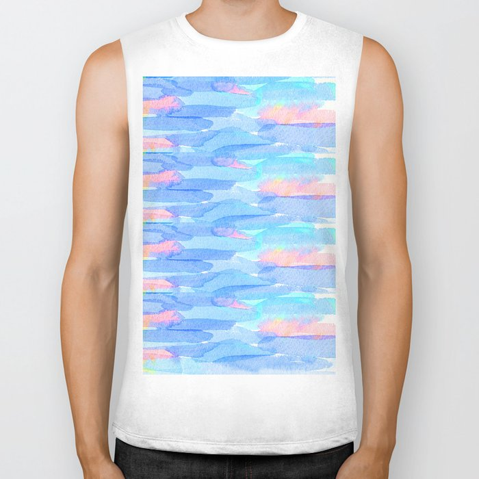 Watercolor delight Biker Tank