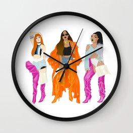 Vetements boots girls - Lisa, Rihanna, Leigh-Anne Wall Clock