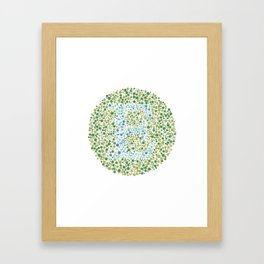 """E"" Eye Test Letter Circle Framed Art Print"