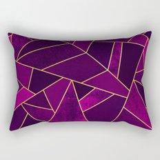 Purple Stone Rectangular Pillow