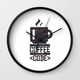 Funny Coding Coffee Programming Gift Wall Clock