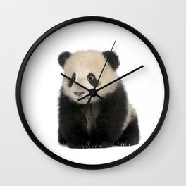 Young Giant Panda Wall Clock