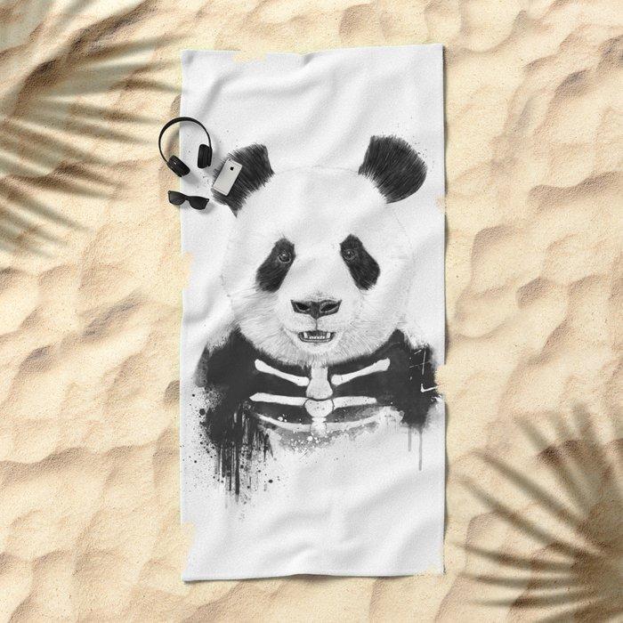 Zombie panda Beach Towel