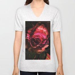 Rose colors fashion Jacob's Paris Unisex V-Neck