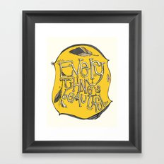 everything is beautiful Framed Art Print