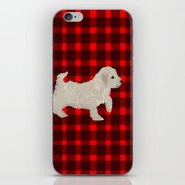 Cockapoo dog art cream iPhone Skin