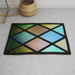 Color glass pattern Rug