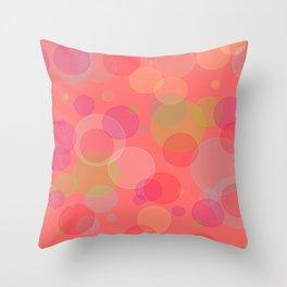 Bubblegum Bokeh Throw Pillow