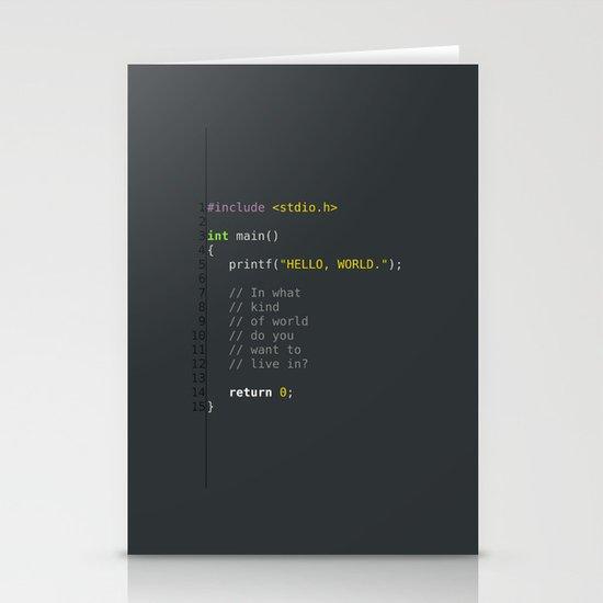programmer's choice, C nerd. Stationery Cards