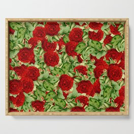 Painting the Roses Red Serving Tray