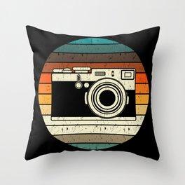 Vintage Retro Camera Photographer Gift Throw Pillow