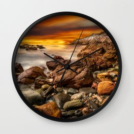 Rhoscolyn Coastline Sunset Wall Clock
