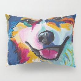 Border Collie Pop Art Custom Pet Portrait Pillow Sham