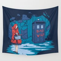 bad wolf Wall Tapestries featuring Big Bad Wolf by Fanboy30
