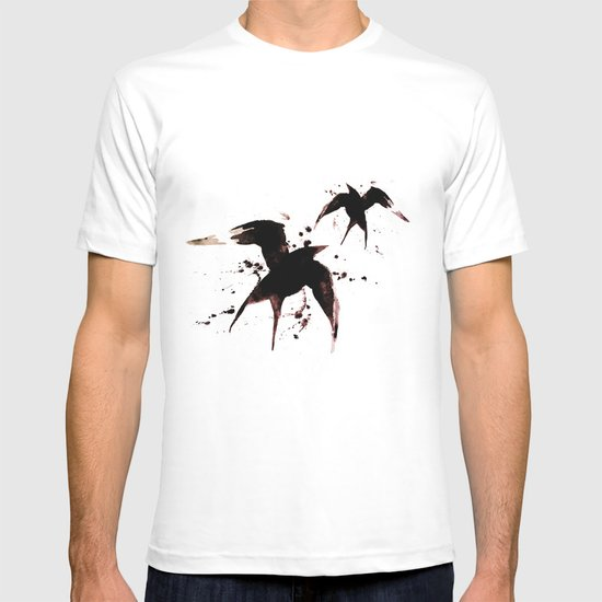 On your fears,  ... swallow them.   T-shirt