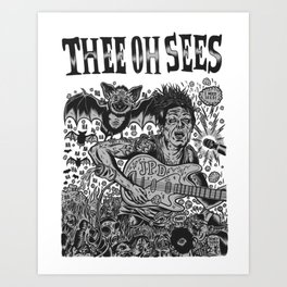 Thee Oh Sees John Dwyer Art Print