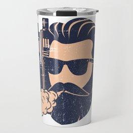 Cloud Chaser - Vaping Bearded Man Travel Mug