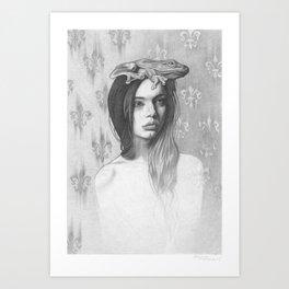 Queen Frog Art Print