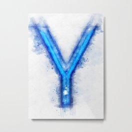 Y Letter Metal Print