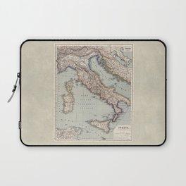 Bella Italia Vintage Map Of Italy Laptop Sleeve