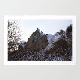 Scarborough Bluffs in Winter on December 27th, 2020. XVI Art Print