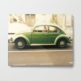 Punch Buggy Green Metal Print