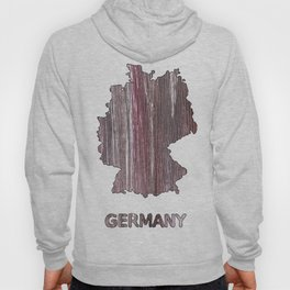 Germany map outline Deep Taupe watercolor Hoody