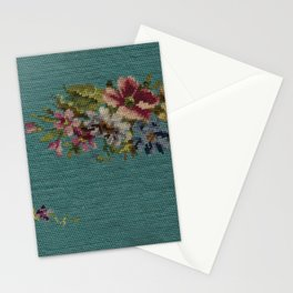 floral needlepoint Stationery Cards