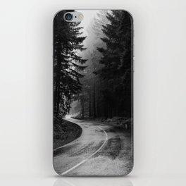 The Dark Path (Black and White) iPhone Skin