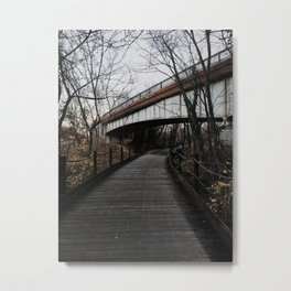 Woodplank Path Metal Print