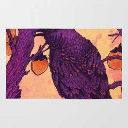 Raven and Persimmons Rug