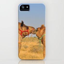 Animal love, Rajasthan, India iPhone Case