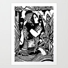 Headscarf Art Print