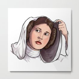 Princess Leia Metal Print