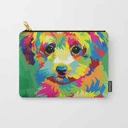 Maltipoo Dog Pop Art Illustration Carry-All Pouch
